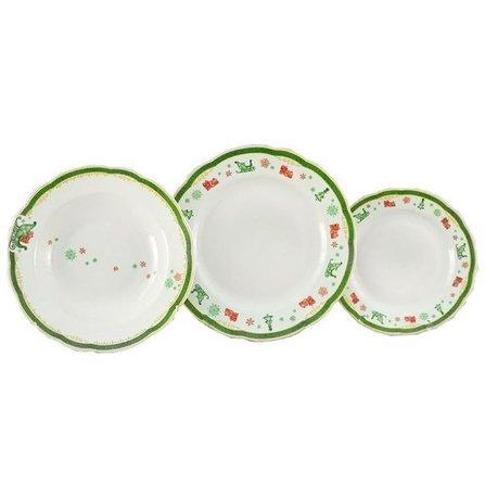 Leander Набор тарелок Мэри-Энн Новогодний, 18 пр. 03160119-2573 Leander