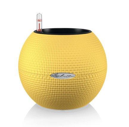 кашпо lechuza classico с системой автополива цвет черный диаметр 50 см Lechuza Кашпо Пуро 20, желтое, с системой автополива, все-в-одном