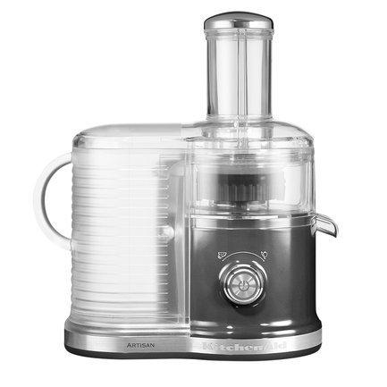 KitchenAid Соковыжималка для овощей и фруктов, 2 скорости, серебряный медальон