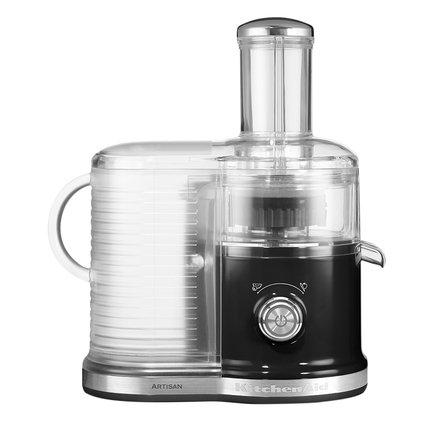 KitchenAid Соковыжималка для овощей и фруктов, 2 скорости, черная 5KVJ0333EOB KitchenAid соковыжималка oursson jm7002 or