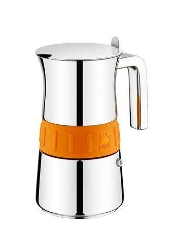 Кофеварка гейзерная Bra Elegance Orange на 10 чашек от Superposuda