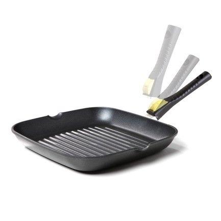 Risoli Литая сковорода-гриль со съемной ручкой Click, 26x26 см полотенца eleganta полотенце anetta цвет темная фуксия набор