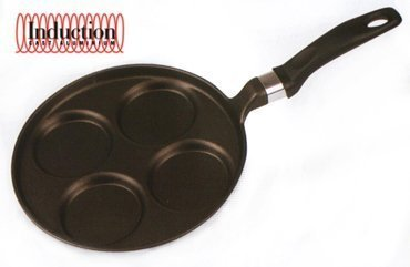 Фото - Risoli Литая сковорода для оладий Induction, 25 см 00106MIN/25T Risoli сковорода для блинов d 25 см risoli 00106gr 25hs