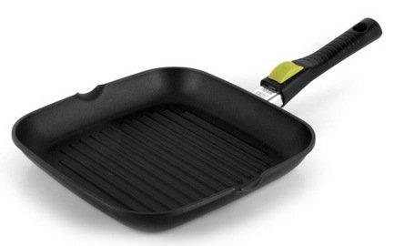Risoli Литая сковорода-гриль Click Induction, 26х26 см risoli сковорода гриль cosmopan