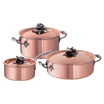 Ruffoni Набор медной посуды Opus Cupra, 3 пр. disney набор детской посуды королевские питомцы 3 предмета