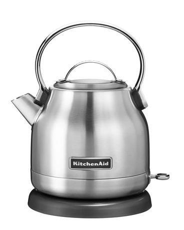 KitchenAid Электрочайник (1.25 л), нержавеющая сталь 5KEK1222ESX KitchenAid чайник kitchenaid kten20sbob чёрный 1 9 л нержавеющая сталь