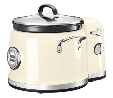 KitchenAid Мультиварка (4.25 л), с мешалкой, 12 программ, 3 скорости, кремовая kitchenaid набор прямоугольных чаш для запекания 0 45 л 2 шт красные
