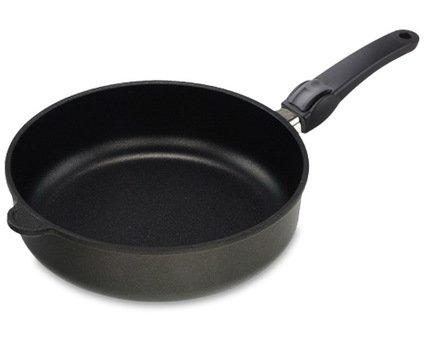 AMT Gastroguss Сковорода глубокая с покрытием Titan, 26х7 см, со съемной ручкой AMT I-726 AMT Gastroguss сковорода d 24 см amt gastroguss frying pans titan induction amt i 524