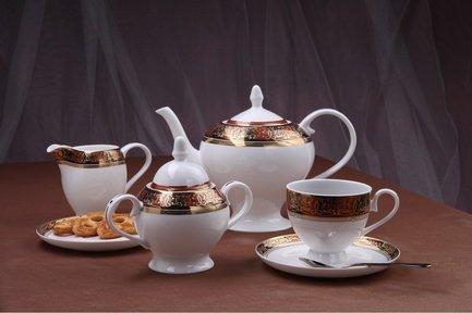 Royal Aurel Чайный сервиз Дерби на 6 персон, 15 пр.
