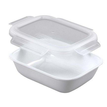 Corelle Контейнер (1.9 л), с крышкой, 25x19x7.8 см, белый 1107095 Corelle
