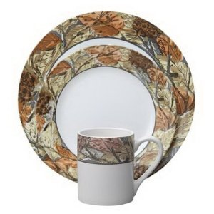 Corelle Набор посуды Woodland Leaves, 16 пр. 1109566