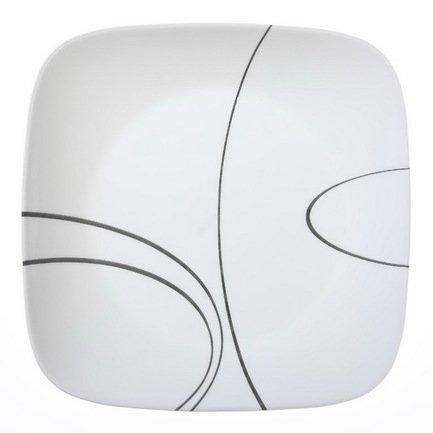 Corelle Тарелка обеденная Simple Lines, 26 см 1069986 Corelle corelle тарелка суповая corelle city block 1074209 h 05aqbl