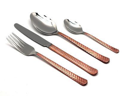 Фото - Набор столовых приборов Straw Copper, 24 пр., на 6 персон 109302427ELE10 Herdmar набор столовых приборов face cosmos 75 предметов