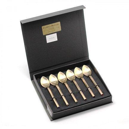 Набор чайных ложек Desire Old Gold SW Multicolor, 6 пр., на 6 персон, 18.5х18х2 см от Superposuda
