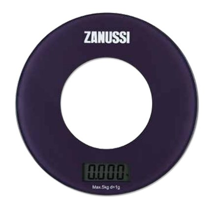 Zanussi Весы кухонные цифровые Bologna, 18х18х1.8 см, фиолетовые, вес 0.45 кг, вес измерений 5 кг ZSE21221BF