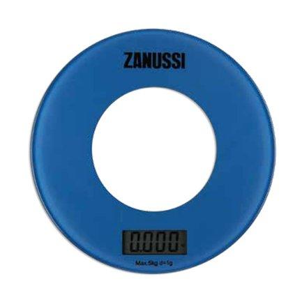 Zanussi Весы кухонные цифровые Bologna, 18х18х1.8 см, синие, вес 0.45 кг, вес измерений 5 кг ZSE21221EF