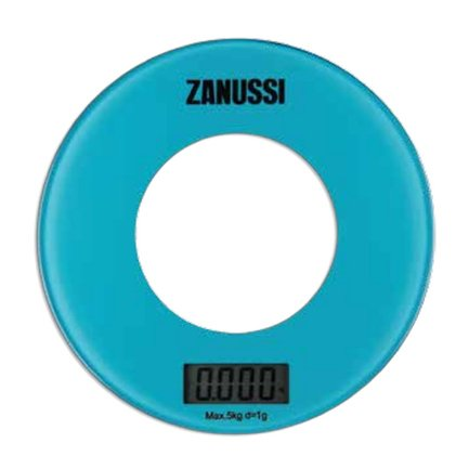 Zanussi Весы кухонные цифровые Bologna, 18х18х1.8 см, голубые, вес 0.45 кг, вес измерений 5 кг ZSE21221FF