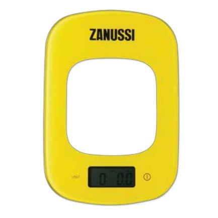 Zanussi Весы кухонные цифровые Venezia, 23.5x16.5x1.6 см, желтые, вес 0.6 кг, вес измерений 5 кг ZSE22222CF