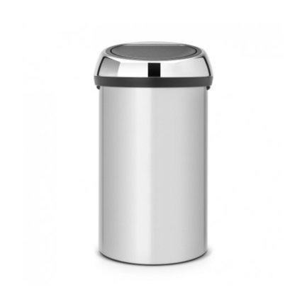 Brabantia Мусорный бак Touch Bin (60 л), 40х71.5 см, серый 402425 Brabantia brabantia мусорный бак touch bin 25 л 72 5х26 5х26 5 см 384929 brabantia