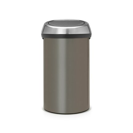 Brabantia Мусорный бак Touch Bin (60 л), 40х71.5 см, платина 402463 Brabantia бак мусорный idea цвет зеленый 60 л м 2393