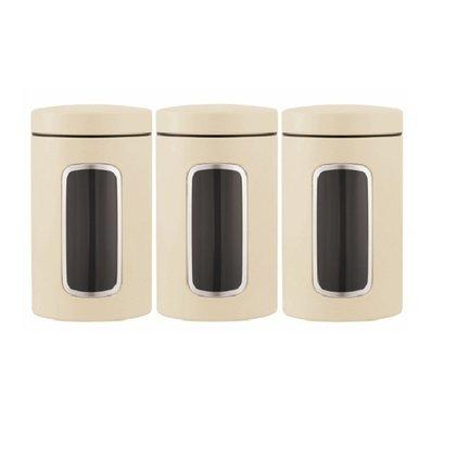 Brabantia Набор контейнеров (1.4 л), миндальный, 3 шт. 380341 Brabantia mimoza набор контейнеров на подставке 6 шт