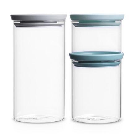 Brabantia Набор модульных стеклянных банок, 3 шт. 298325