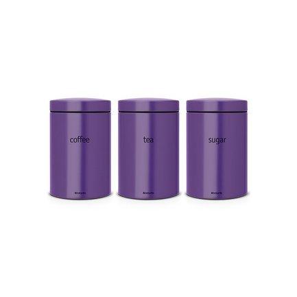 Brabantia Набор контейнеров (1.4 л), 3 пр. 484186 Brabantia mimoza набор контейнеров на подставке 6 шт