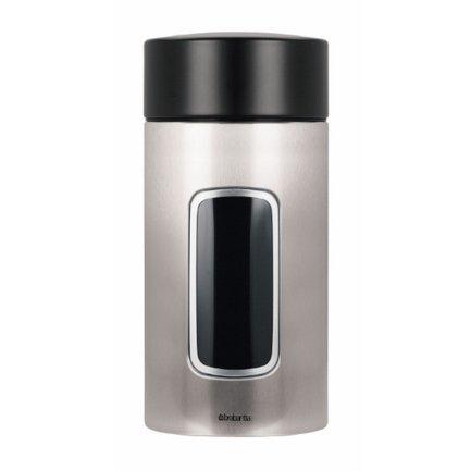 Brabantia Контейнер для сыпучих продуктов с окном (1.7 л), матовый стальной 371820 Brabantia