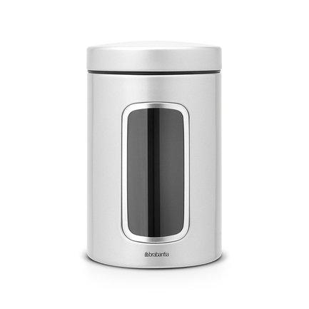 Brabantia Контейнер для сыпучих продуктов с окном (1.4 л), серый металлик 243509