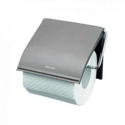 Brabantia Держатель для туалетной бумаги, 12.3х13.7 см, платиновый 477300