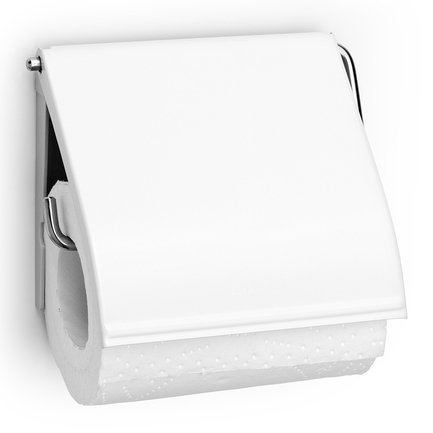 Brabantia Держатель для туалетной бумаги, 12.3х13.3х1.7 см, белый brabantia держатель для туалетной бумаги