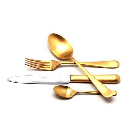 Cutipol Набор столовых приборов Atlantico Gold, матовые, 24 пр. 9202 Cutipol набор столовых приборов cutipol goa white gold 24 предмета
