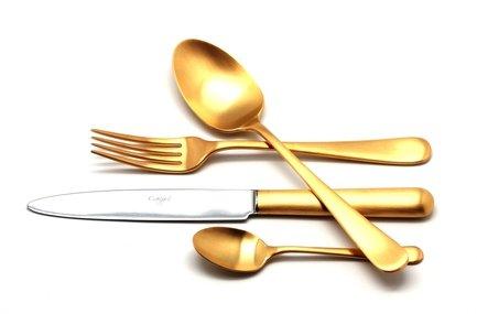 Cutipol Набор столовых приборов Atlantico Gold, матовые, 72 пр. 9202-72 Cutipol набор столовых приборов cutipol mezzo из 72 х предметов 9300 72