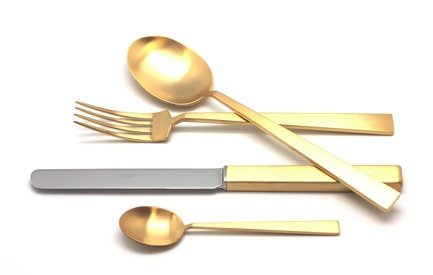 Cutipol Набор столовых приборов Bauhaus Gold, матовые, 72 пр. 9322-72 Cutipol набор столовых приборов cutipol mezzo из 72 х предметов 9300 72