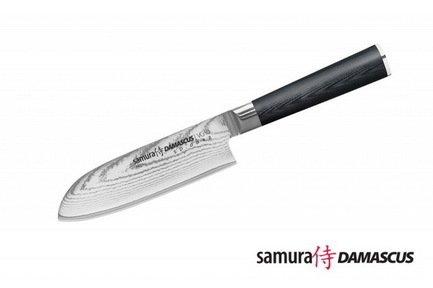 Нож сантоку Samura Damascus, 28 см, длина лезвия 15 см, вес 204 г, G-10, дамаск 67 слоев SD-0092/G-10