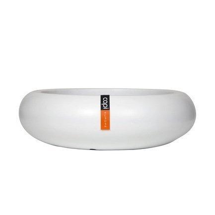 Capi Кашпо Lux Плоская чаша, белое, 49х14 см 042WFL Capi capi кашпо lux плоская чаша белое 49х14 см 042wfl capi