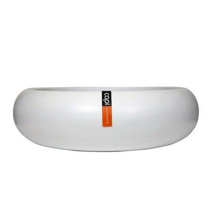 Capi Кашпо Lux Плоская чаша, белое, 66х19 см 043WFL Capi capi кашпо lux плоская чаша белое 49х14 см 042wfl capi
