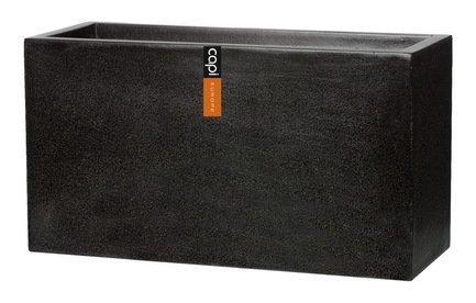 Capi Кашпо Lux Дивайдер средний, черное, 80х32х44 см 109FIT