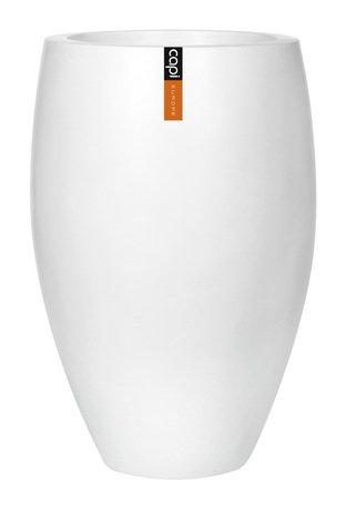 Capi Кашпо Lux Элегант Делюкс, белое, 59х84 см 1132WFL Capi capi кашпо lux плоская чаша белое 49х14 см 042wfl capi