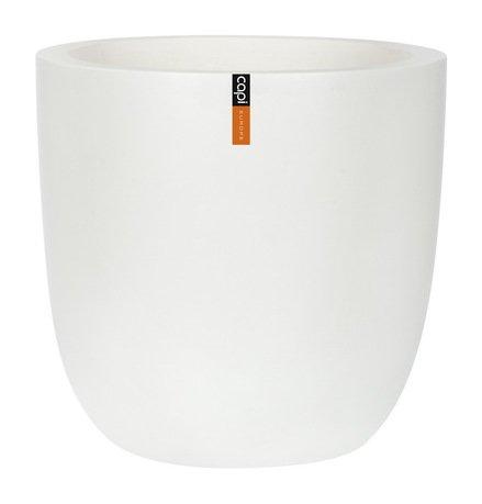 Capi Кашпо Lux, белое, 28х26 см 931WFL Capi capi кашпо lux плоская чаша белое 49х14 см 042wfl capi