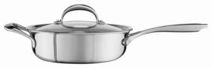 KitchenAid Сотейник с крышкой (3.31 л), 24 см, 5-ти слойный kitchenaid чугунная квадратная сковорода с прессом 25х25 см кремовая
