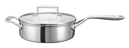 KitchenAid Сотейник с крышкой (3.31 л), 24 см, 3-х слойный kitchenaid набор круглых чаш для запекания смешивания 1 4 л 1 9 л 2 8 л 3 шт кремовые