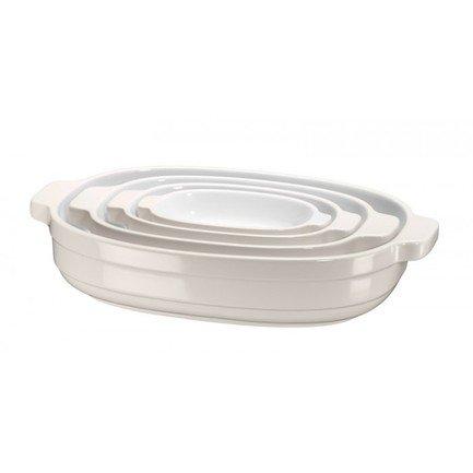 KitchenAid Набор керамических кастрюль KitchenAid, кремовые, 4 шт. KBLR04NSAC KitchenAid kitchenaid kblr04nsac набор из 4 керамических кастрюль для запекания cream