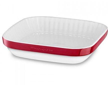 KitchenAid Форма для запекания, 26х26 см, красная KBLR09AGER KitchenAid kitchenaid ножницы кухонные kitchenaid красные 22 5х8х3 см kc351ohera kitchenaid