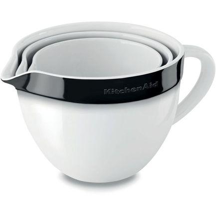 KitchenAid Набор круглых чаш для запекания, смешивания (1.4 л, 1.9 л, 2.8 л), 3 шт., черные
