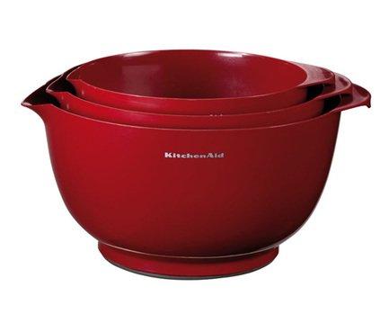 KitchenAid Чаши для смешивания, 3 шт. kitchenaid набор круглых чаш для запекания смешивания 1 4 л 1 9 л 2 8 л 3 шт красные