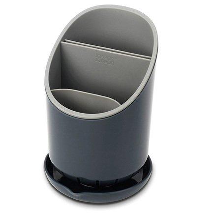Сушилка для столовых приборов со сливом Dock, 12х19х12.7см, серая