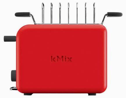 Тостер на 2 хлебца kMix, красный от Superposuda