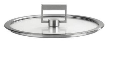 Cristel Крышка Стрейт-фикс, плоская из стекла, 18 см, с ручкой (K18SF) 00024542