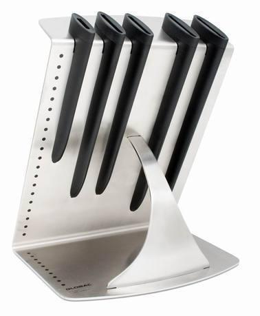 Global Подставка для 5 универсальных ножей Global global нож филейный гибкий global 16 см